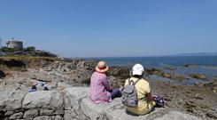 Relaxing and enjoying the heatwave and sunshine at the FortyFoot and Sandycove..Picture Colin Keegan, Collins Dublin.
