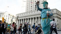 People protest against US President Donald Trump's immigration policies in New York City this week. Photo: Reuters
