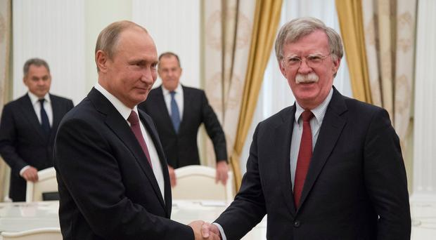Putin 'given hope' for his ties with US after meeting with Bolton