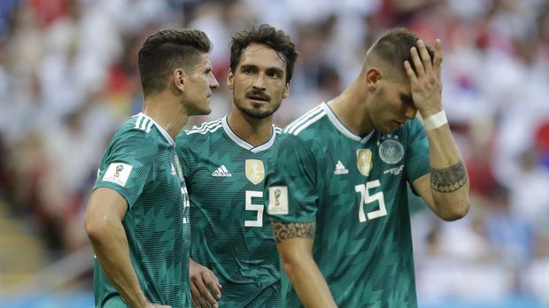 Defending champions Germany suffered a group-stage exit for the first time (Michael Probst/AP/PA)