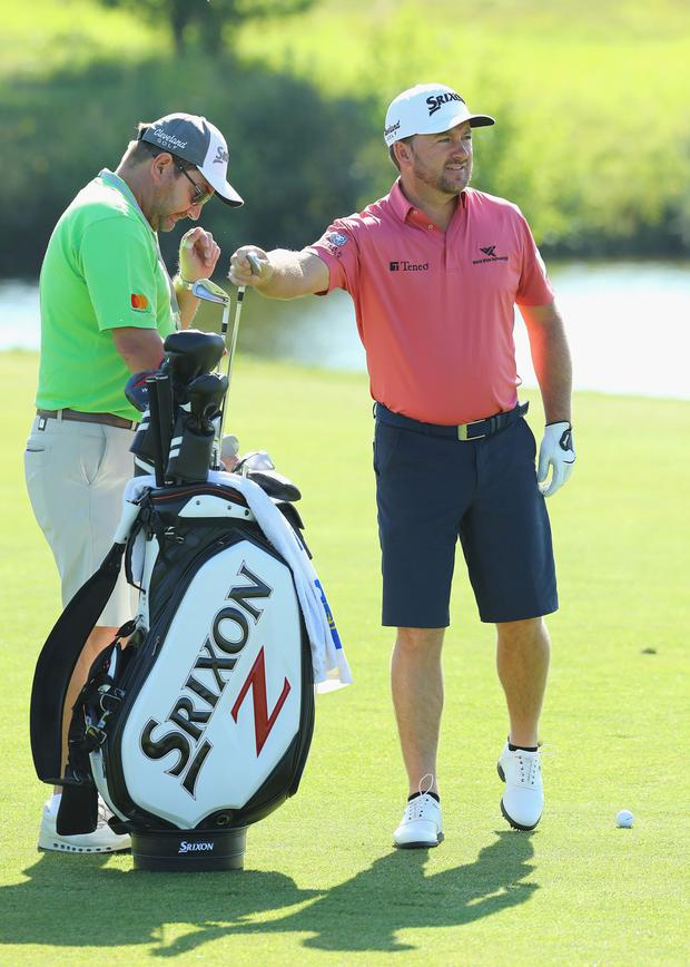 Graeme McDowell plays a practice round ahead of the Open de France at Le Golf National, where he was won twice. Photo: Getty