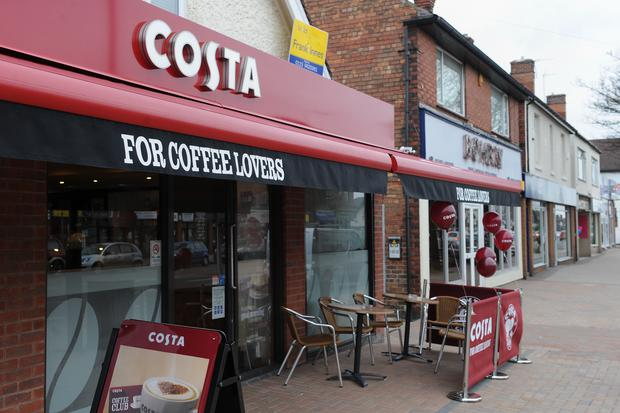 Costa Coffee has more than 2,400 outlets. Photo: PA