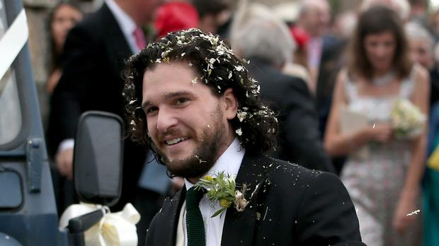 Kit Harington on his wedding day (Jane Barlow/PA)