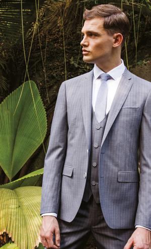 Grey pinstripe suit from Remus Uomo   Stockist nationwide