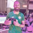 Ireland football star David Meyler at the EA Play event in Los Angeles on June 9, 2018. Photo: Ronan Price