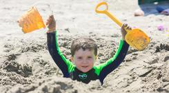 Diarmuid Earley (4) from Kildare enjoying the good weather Photo Gareth Chaney Collins