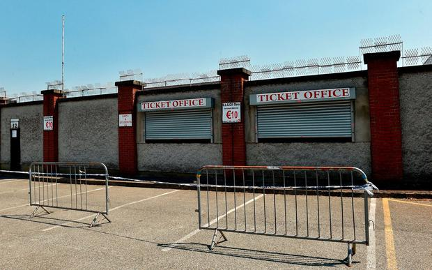 A general view of the ticket office outside St Conleth's Park in Newbridge, Kildare. Photo: Matt Browne/Sportsfile