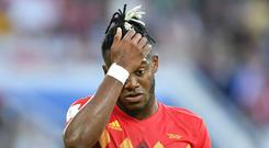 Michy Batshuayi was more than a little embarrassed by his goal celebrations