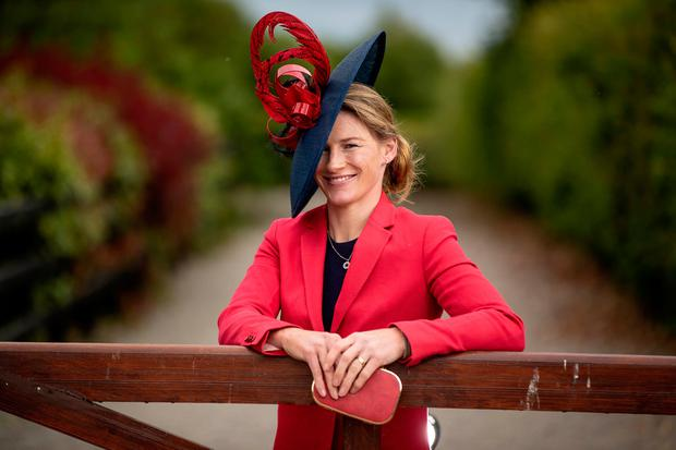 Retired champion jockey Nina Carberry dressed in her best for new judging role. Picture: INPHO