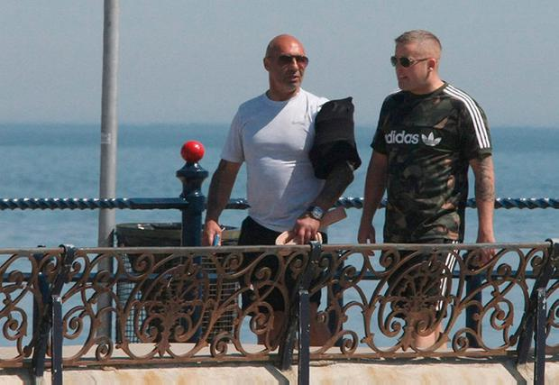 Pete Taylor on the promenade in Bray