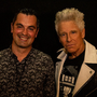 Karl Henry pictured with U2's Adam Clayton