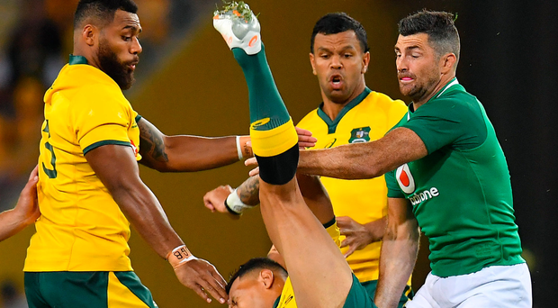 Israel Folau's wife accuses Rob Kearney of dangerous play as she hits out at World Rugby over Australia star's ban