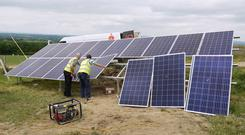 Panels being installed on Kilkenny dairy farm