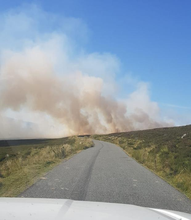 Fire over Military Road in Wicklow. Picture: Wicklow Fire Service
