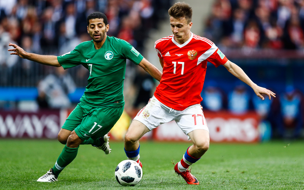 Aleksandr Golovin (right) looks destined to move to England. Photo: Getty Images