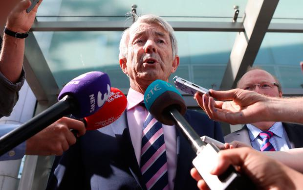 Independent Tipperary TD Michael Lowry speaks outside the Central Criminal Court after the case. Photo: Collins Courts