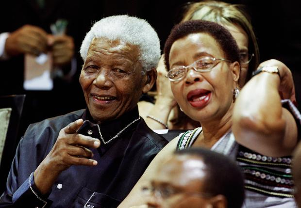 Nelson Mandela with his wife third Graca Machel in 2010