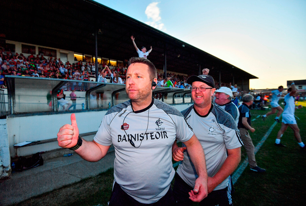 Kildare manager Cian O'Neill after the game. Photo by Stephen McCarthy/Sportsfile