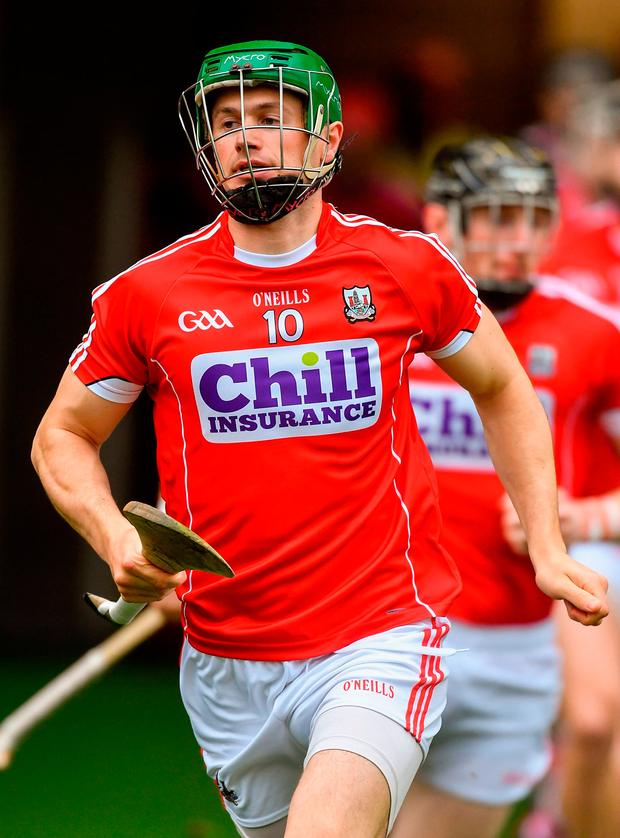 Cork captain Séamus Harnedy leads his team-mates to the pitch before the Munster GAA Hurling Senior Championship Round 3 match between Cork and Limerick at Páirc Uí Chaoimh in Cork. Photo: Sportsfile