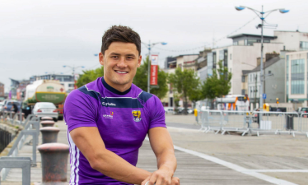 Star hurler Lee Chin on the boardwalk in Wexford. Photo: Patrick Browne