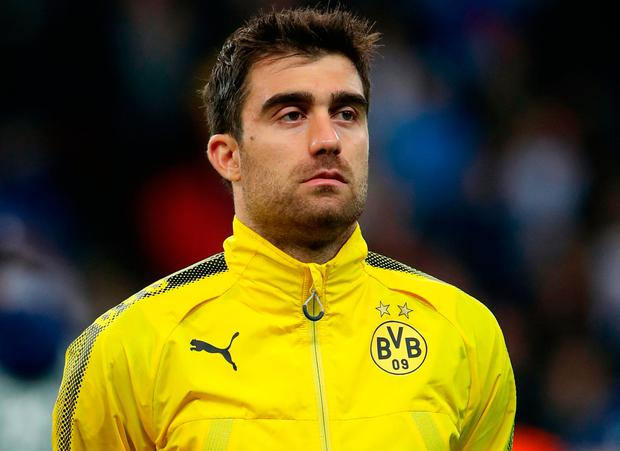 File photo dated 13-09-2017 of Sokratis Papastathopoulos, Borussia Dortmund PRESS ASSOCIATION Photo. Issue date: Monday July 2, 2018. Arsenal have announced the signing of Greece defender Sokratis Papastathopoulos from Borussia Dortmund on a long-term contract. Nick Potts/PA Wire.