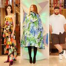 Designer Richard Quinn with models wearing his creations at Brown Thomas. Photo: Photocall