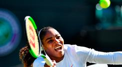 Serena Williams given a tough test at Wimbledon Photo: Getty Images