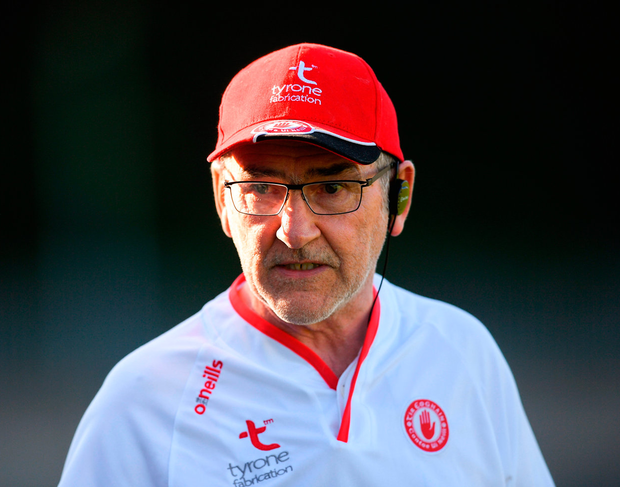 Tyrone manager Mickey Hart. Photo: Eóin Noonan/Sportsfile
