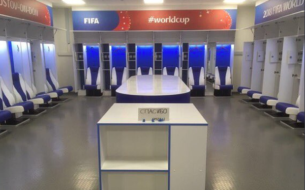 Japan tidied their changing room CREDIT: JAPAN TWITTER