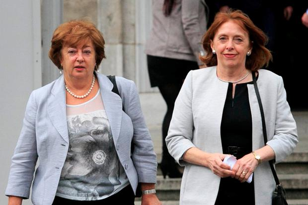 Catherine Murphy, left, and Róisín Shortall . Photo: Gareth Chaney