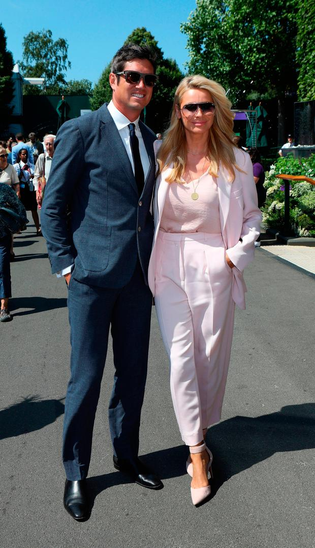 Tess Daly and Vernon Kay on day two of the Wimbledon Championships at the All England Lawn Tennis and Croquet Club, Wimbledon