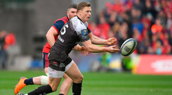 31 March 2018; Chris Ashton of RC Toulon during the European Rugby Champions Cup quarter-final match between Munster and Toulon at Thomond Park in Limerick. Photo by Brendan Moran/Sportsfile