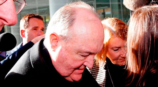 Adelaide Archbishop Philip Wilson arrives at court for sentencing. Photo: AP
