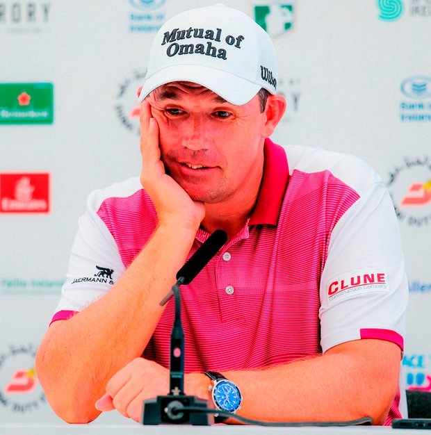 NOT AMUSED: Harrington. Photo: John Dickson/Sportsfile