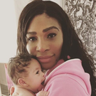 Serena Williams with her daughter Alexis Olympia. Photo: Instagram