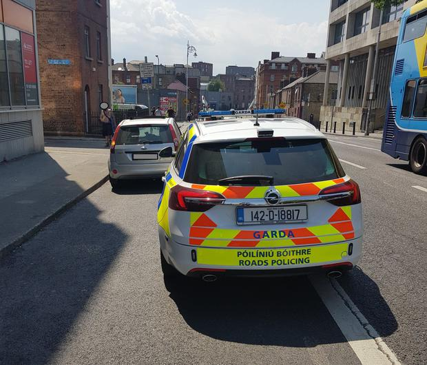 The driver was stopped in Dublin city centre Photo: An Garda Siochana Twitter