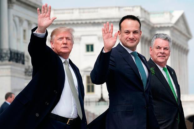 Leo Varadkar with US President Donald Trump at the White House. Picture: Getty