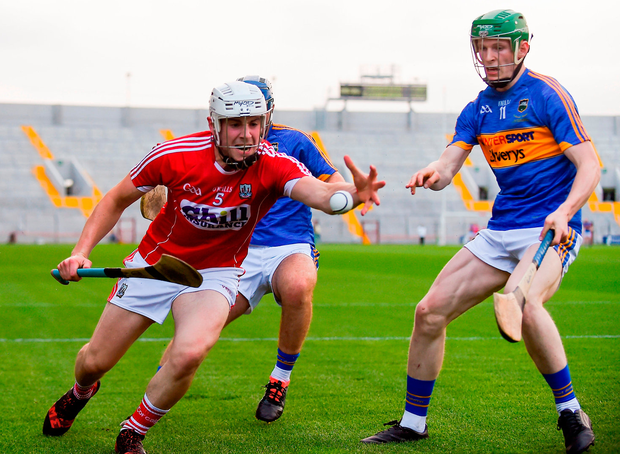 Eoghan Murphy of Cork in action against Paudie Feehan of Tipperary Photo: Eóin Noonan/Sportsfile