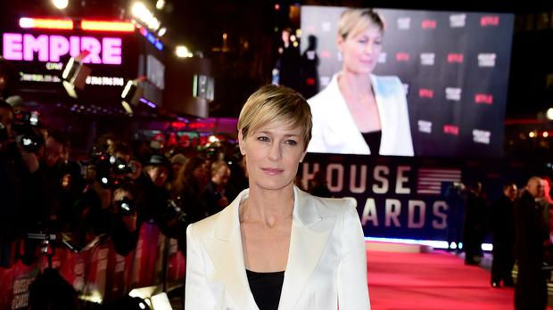 Robin Wright appears in a trailer for House Of Cards season six as president of the United States (Ian West/PA)