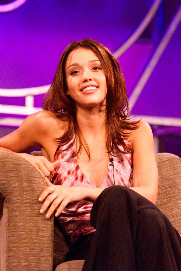 Jessica Alba at the 2000 FOX presentation for the Television Critics Association, for the show 'Dark Angel'.