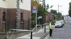 The scene of the stabbing on Clanbrassil Street