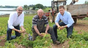 From left: Wilson's Country chairman Angus Wilson, Comber potato grower Hugh Chambers and Wilson's agronomist Stuart Meredith