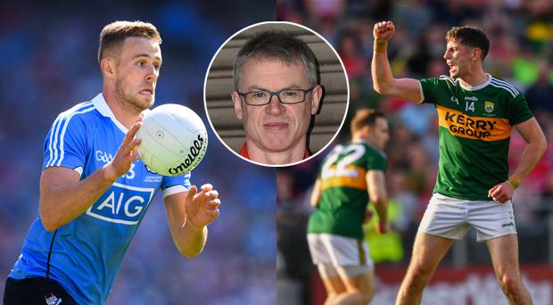 Joe Brolly (inset) believes Paul Geaney (right) is on a level with Paul Mannion