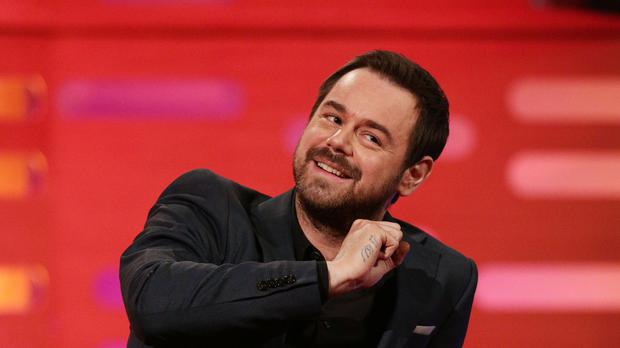 Danny Dyer during filming of a special episode of the Graham Norton Show to celebrate 30 years of EastEnders (Yui Mok/PA)