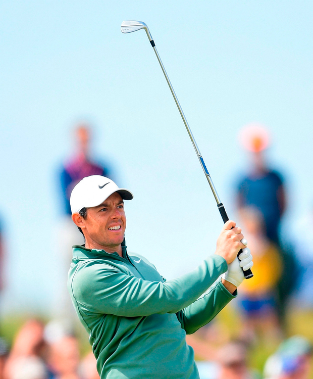 Rory McIlroy on the 2nd hole