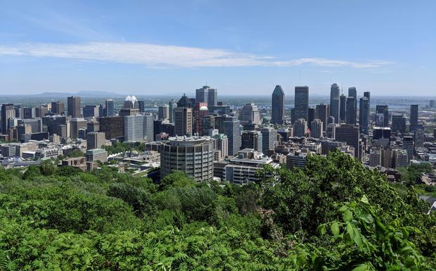 FILE PHOTO: The Montreal city skyline is seen from Mont Royal in Montreal, Quebec, Canada REUTERS/Hyungwon Kang/File Photo