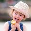 Laoise Bunn (4) from Lecarrow, Co Roscommon, enjoys her ice cream