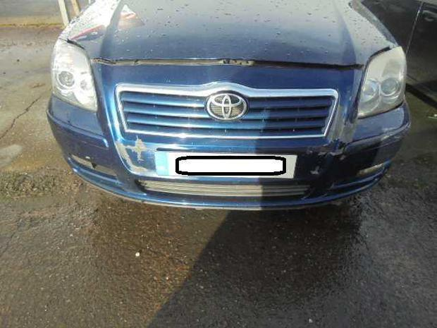 The Toyota Avensis involved in the incident