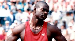 Disgraced sprinter Ben Johnson was stripped of his gold medal in the 100m at the 1988 Seoul Olympics after he tested positive for the steroid Stanozolol. Photo: AFP/Getty Images