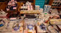 There were 449,410 medicines with steroids detained in 2017, according to the Health Products Regulatory Authority (HPRA). Photo: PA